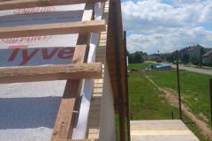 Výstavba dřevostavby, hrubá stavba v Syrovátce u Hradce Králové