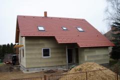 Výstavaba hrubé stavby dřevostavby Chlumec n.C.